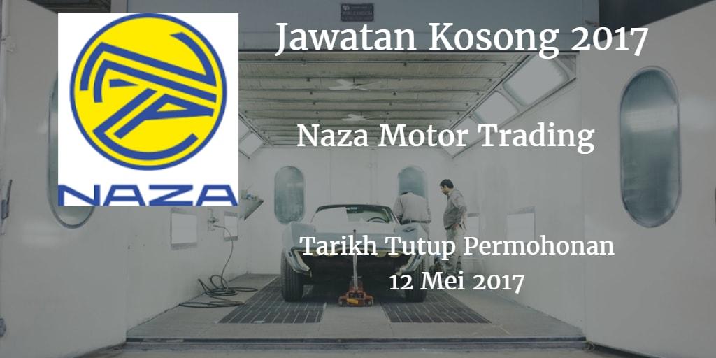Jawatan Kosong Naza Motor Trading 12 Mei 2017