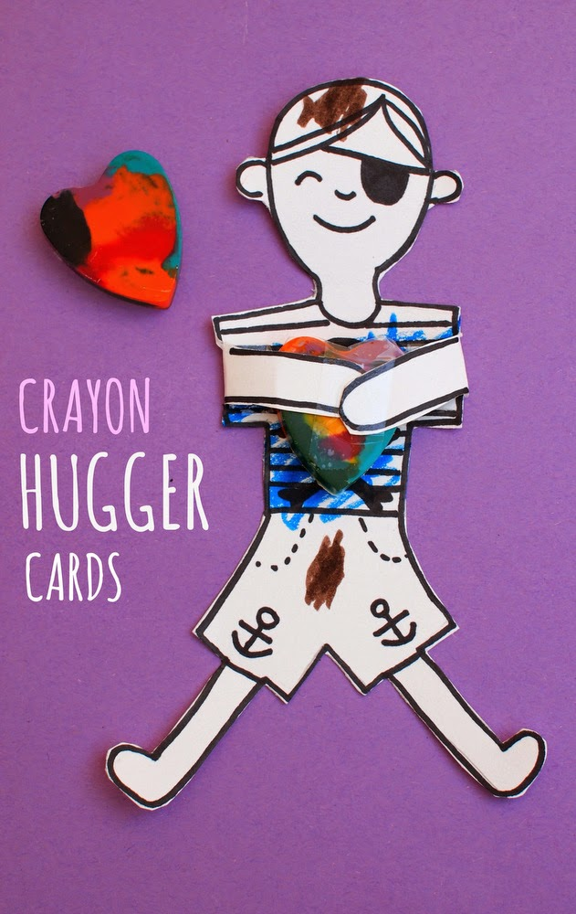 DIY Crayon Hugger Cards- Easy for kids to make and give!