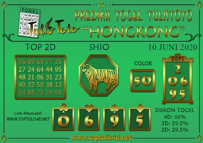 Prediksi Togel HONGKONG TULISTOTO 10 JUNI 2020