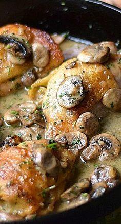 Chicken Au Champagne, Chicken Recipes