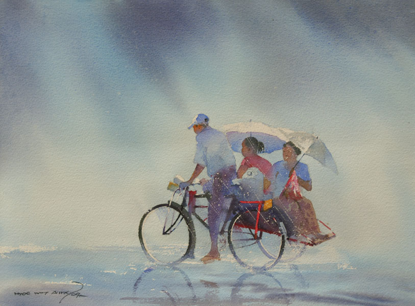 Paintings by Myoe Win Aung
