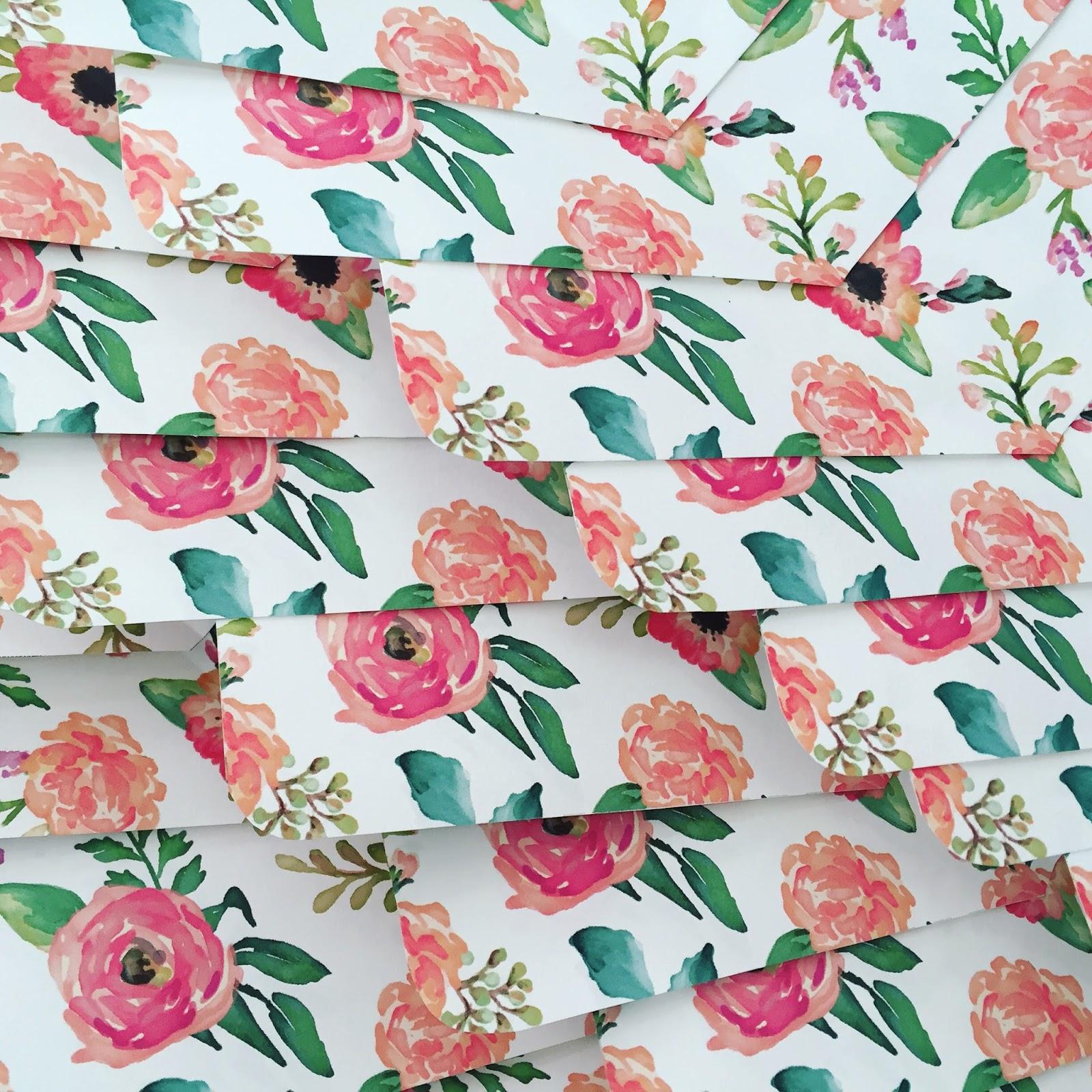 boston style blogger, boston graphic designer, floral envelope liners