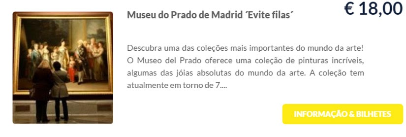 Madri - compre ingressos on-line para as atrações - Museu do Prado - Ticketbar