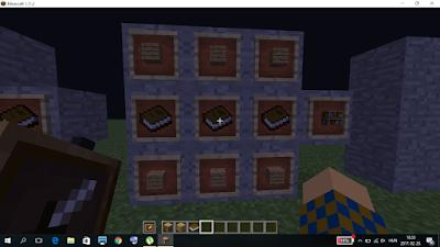 minecraft könyvespolc crafting