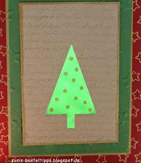 grünes Baumwollpapier von hinten angeleuchtet