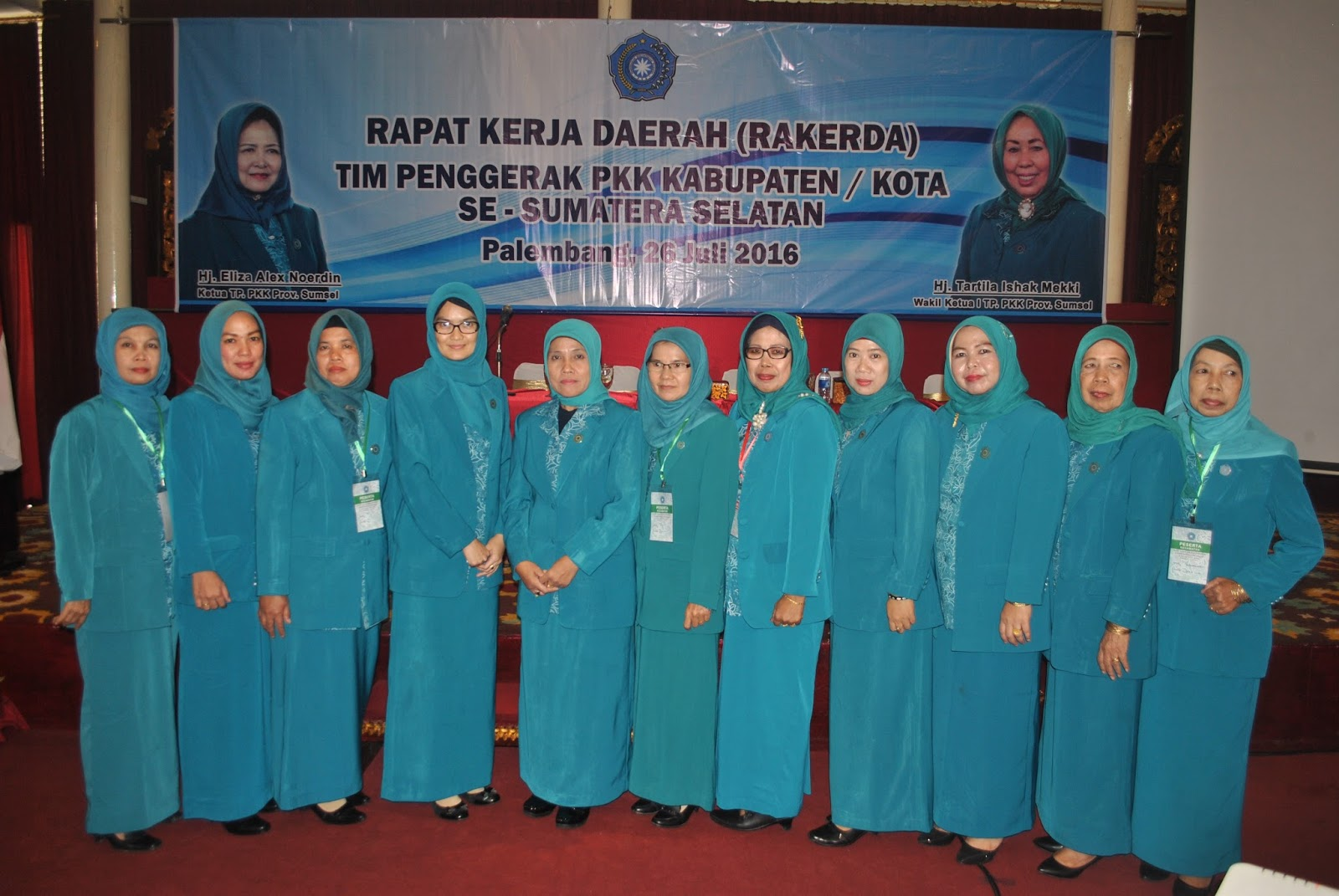 Palembang Ketua Tim Penggerak Pkk Kabupaten Ogan Ilir Beserta Anggota Hadiri Rapat Kerja Daerah Rakerda Se Sumatera Selatan Di Palembang Hari Selasa