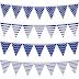 Banderines en Azul para Fiestas para Imprimir Gratis.