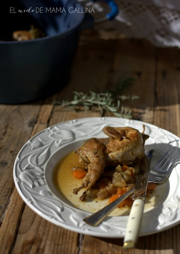 quail with vermouth