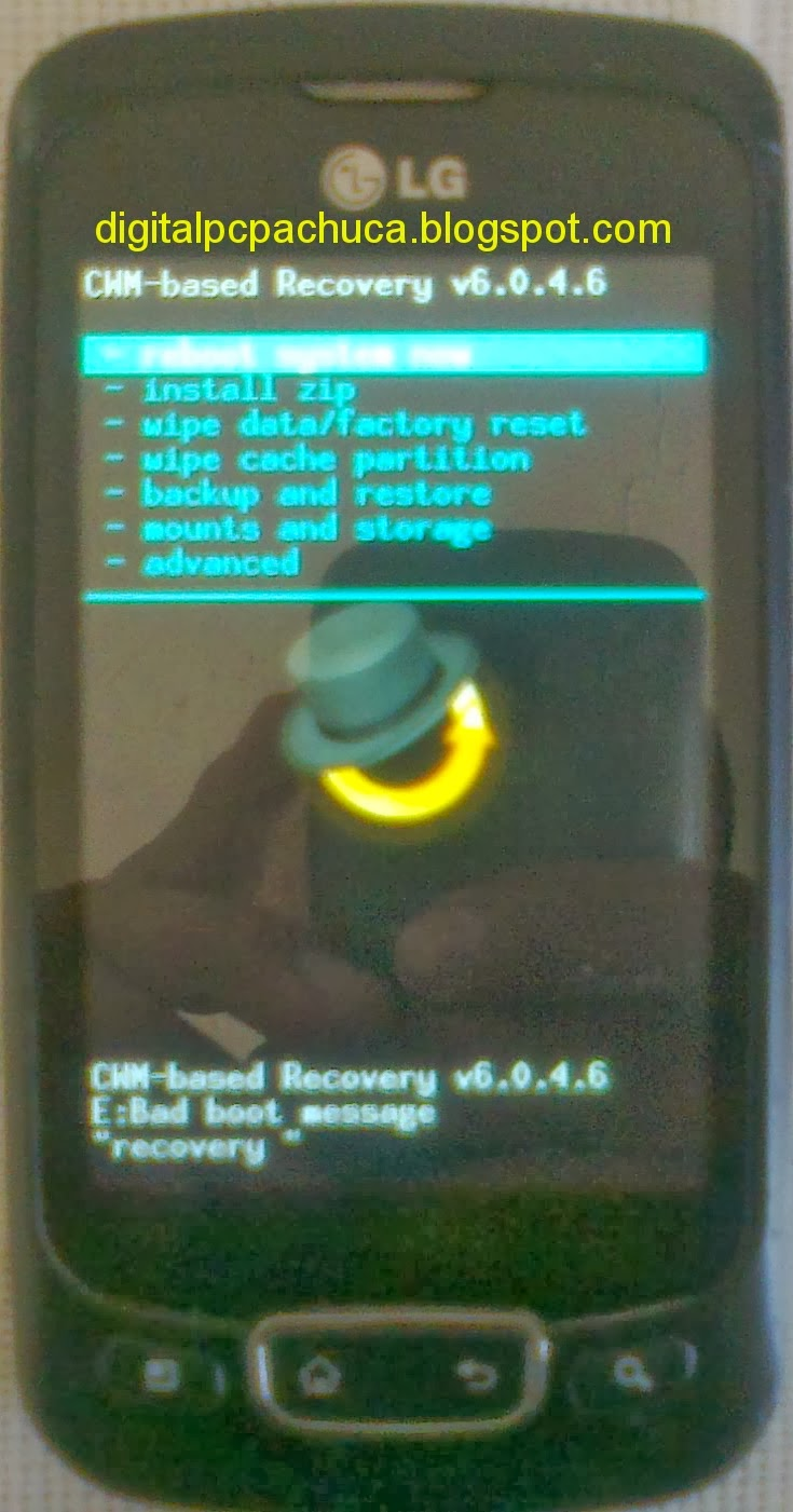 ClockworkMod Recovery 6.0.4.6 para LG P500 Optimus One