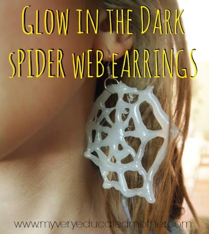 http://www.myveryeducatedmother.com/2014/09/glow-in-dark-spider-web-earrings-and.html