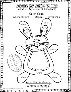 Freebielicious: Spring Color by Sight Word Sentences!