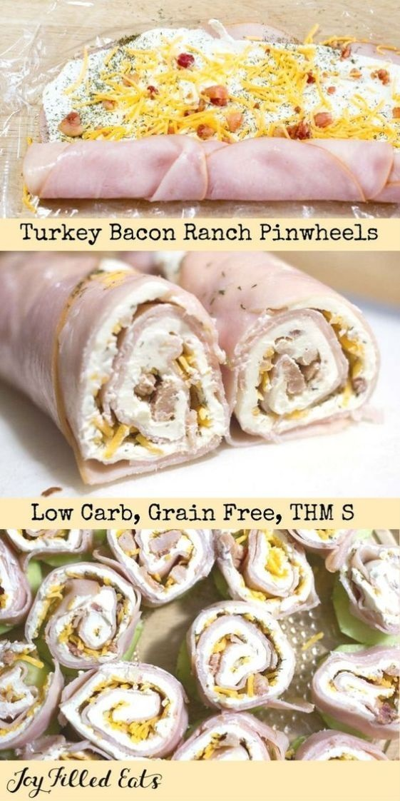 Turkey Bacon Ranch Pinwheels