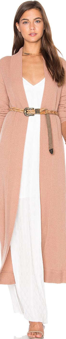 TY-LR Rib Knit Long Jacket
