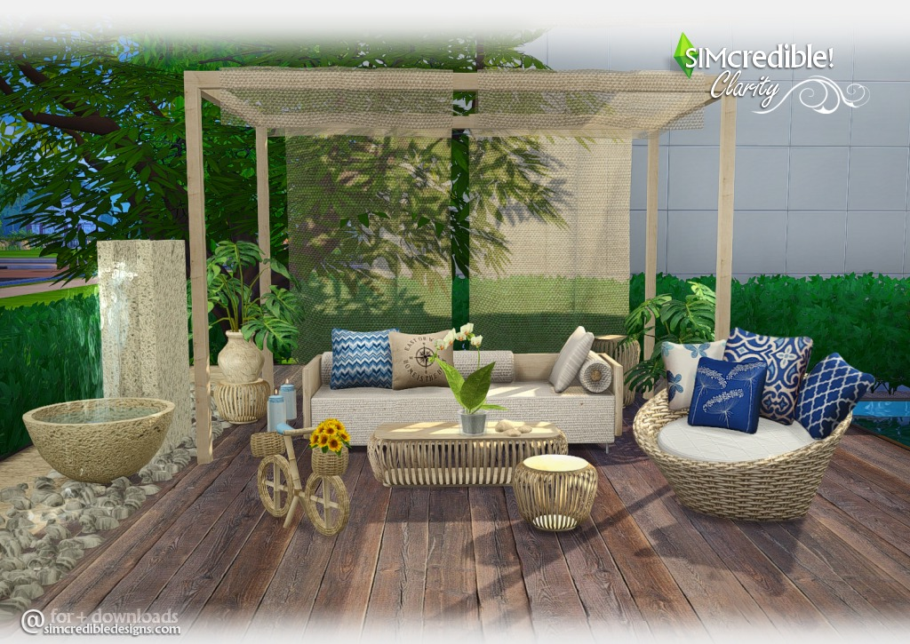 My Sims 4 Blog: Clarity Outdoor Set by Simcredible Designs on Cc Outdoor Living id=84997