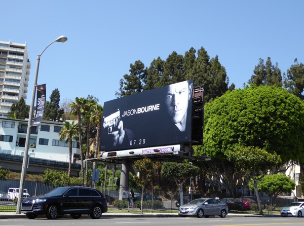 Jason Bourne film billboard