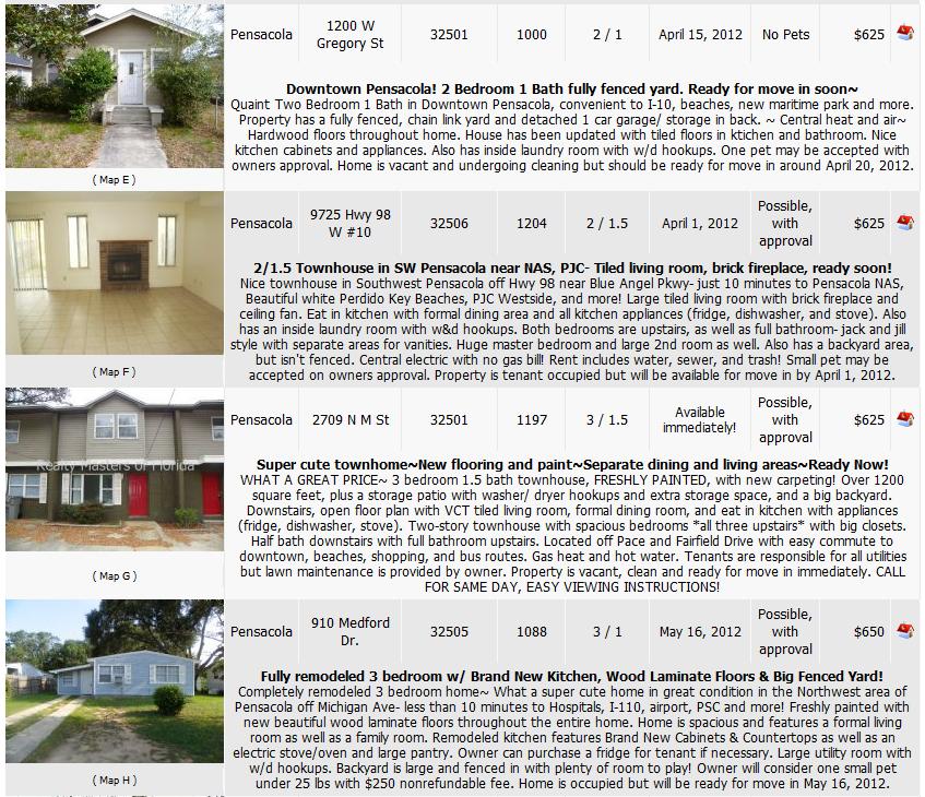 Rental Homes & Apartments In Pensacola, FL Area~