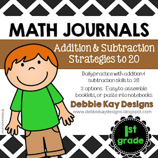 https://www.teacherspayteachers.com/Product/Math-Journals-Addition-Subtraction-Strategies-to-20-2245503