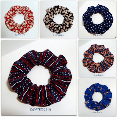 Patriotic Pup Scrunchie Neck Ruffles