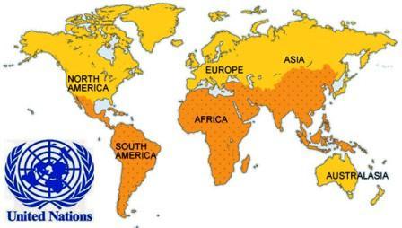 Daftar Anggota PBB Berdasarkan Benua