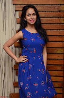 Pallavi Dora Actress in Sleeveless Blue Short dress at Prema Entha Madhuram Priyuraalu Antha Katinam teaser launch 027.jpg