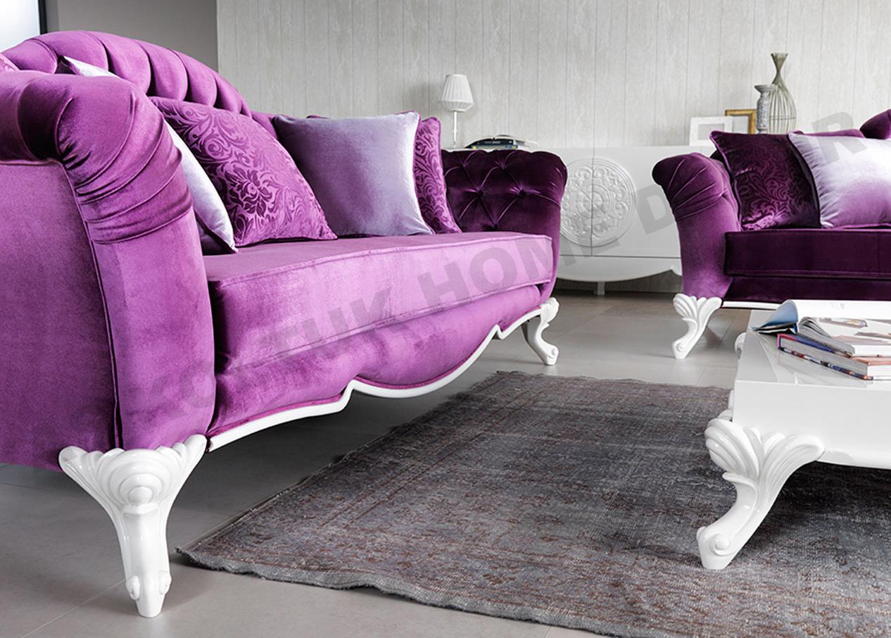 AS Koltuk Home Decor: For Sale - Purple Classic Sofa Set