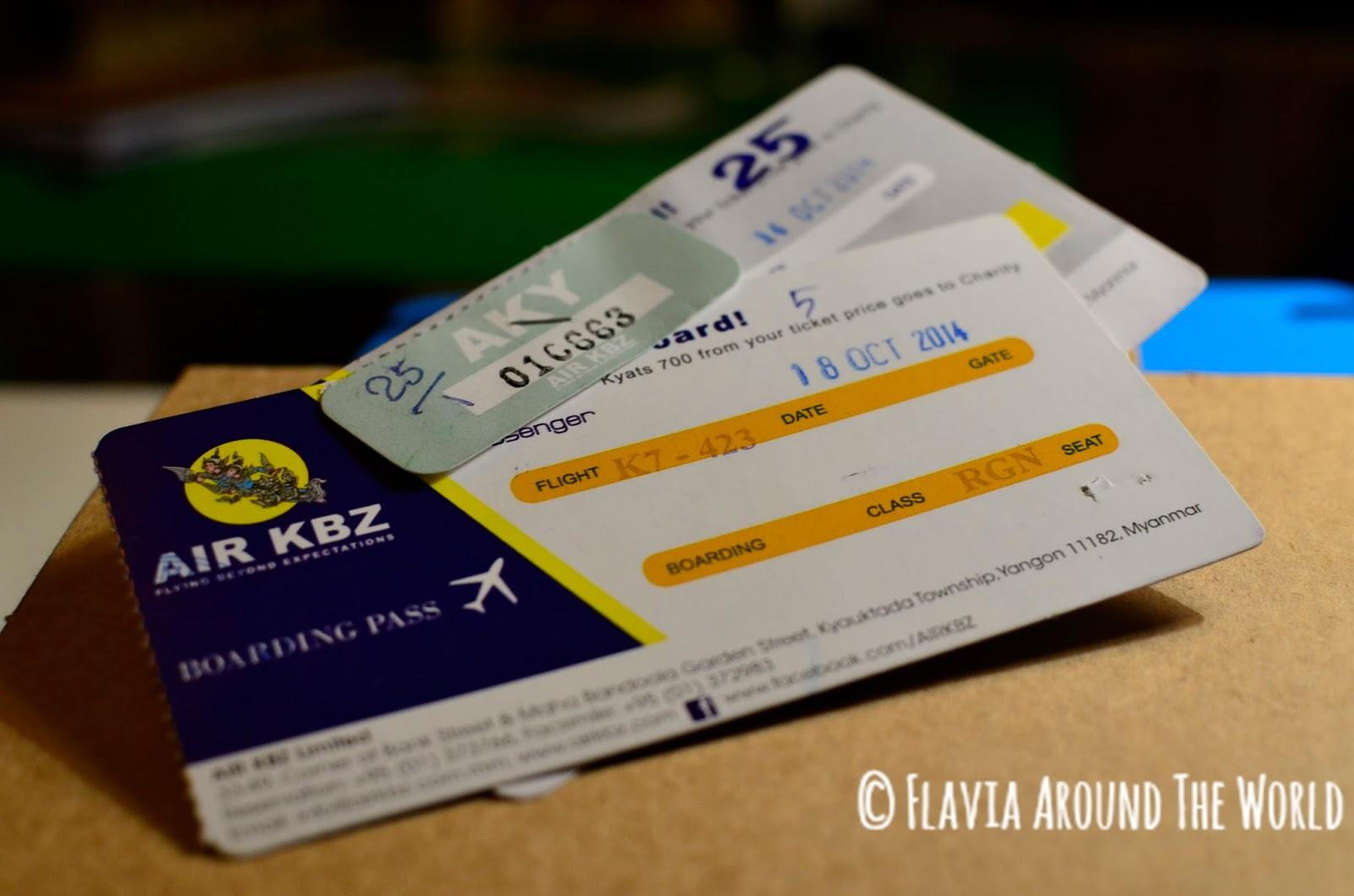 Billetes de avión de AirKBZ Yangón<->Sittwe