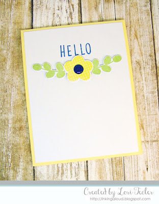 Hello card-designed by Lori Tecler/Inking Aloud-stamps and dies from Reverse Confetti