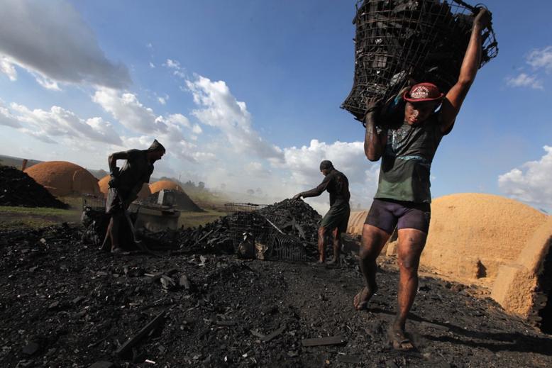 Resultado de imagem para fotos de trabalhadores fazendo carvao