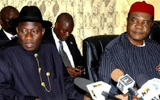Goodluck Jonathan and Vincent Ogbulafor
