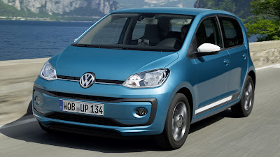 Volkswagen Up! on road Hd Pictures