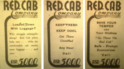 More 1940s Red Cab ads
