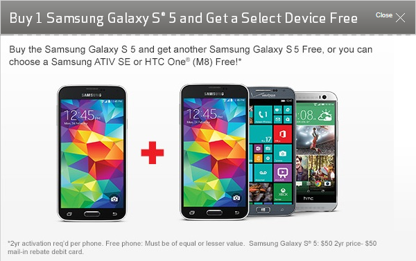 Samsung Galaxy S5 for Verizon available for pre-order