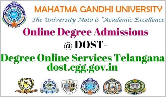 Mahatma Gandhi University,Online Degree admissions,dost degree online services telangana
