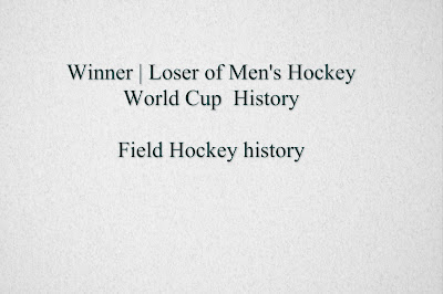 Men's hockey World cup finals history,  List of Men's Hockey World Cup winners ( Field Hockey )