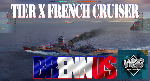 World of Warships Devs - Brennus Tier X French Cruiser Full Specs