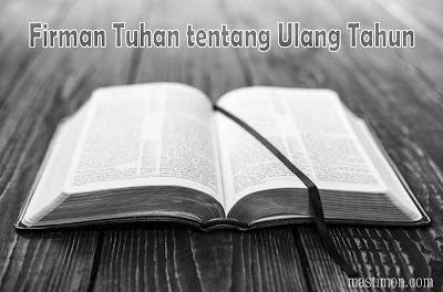 Kumpulan Firman Tuhan tentang Ulang Tahun lengkap dengan Ayat Alkitab