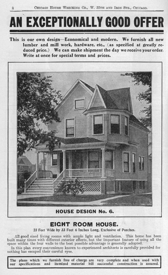 Chicago House Wrecking Company House Design No. 6