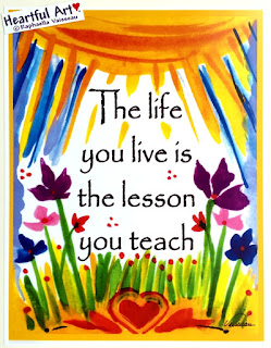 The Life You Live 8x11 Heartful Art poster by Raphaella Vaisseau