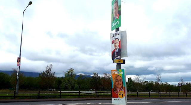 Paikallisvaalit, aanestys, europarlamenttivaalit, irlanti, vaalimainos
