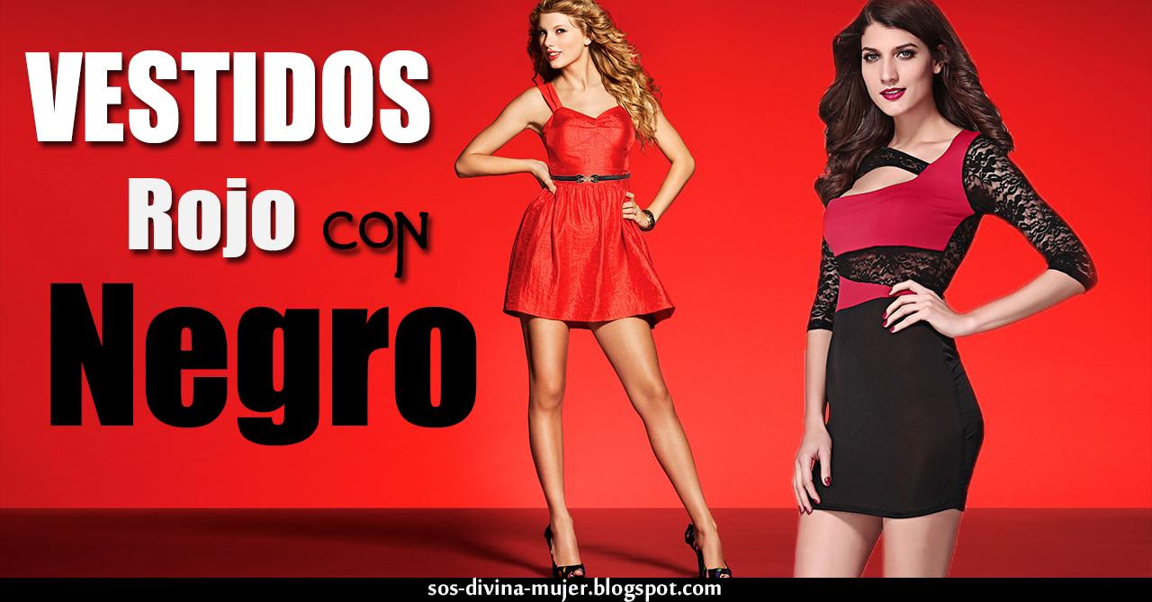 Vestidos color negro y rojo
