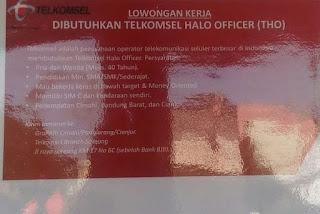 Lowongan Kerja Telkomsel Bandung Cimahi Cianjur 2020