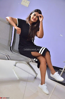 Actress Neha Deshpandey in Black Short Dress ~  Exclusive 005.jpg