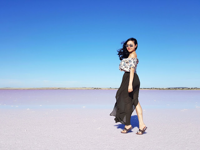 Jeannie in a Bottle Blog: The pink lake, Lake Bumbunga in South Australia