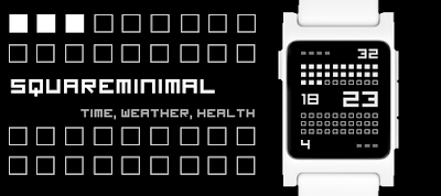 Squareminimal watchface - Pebble 2