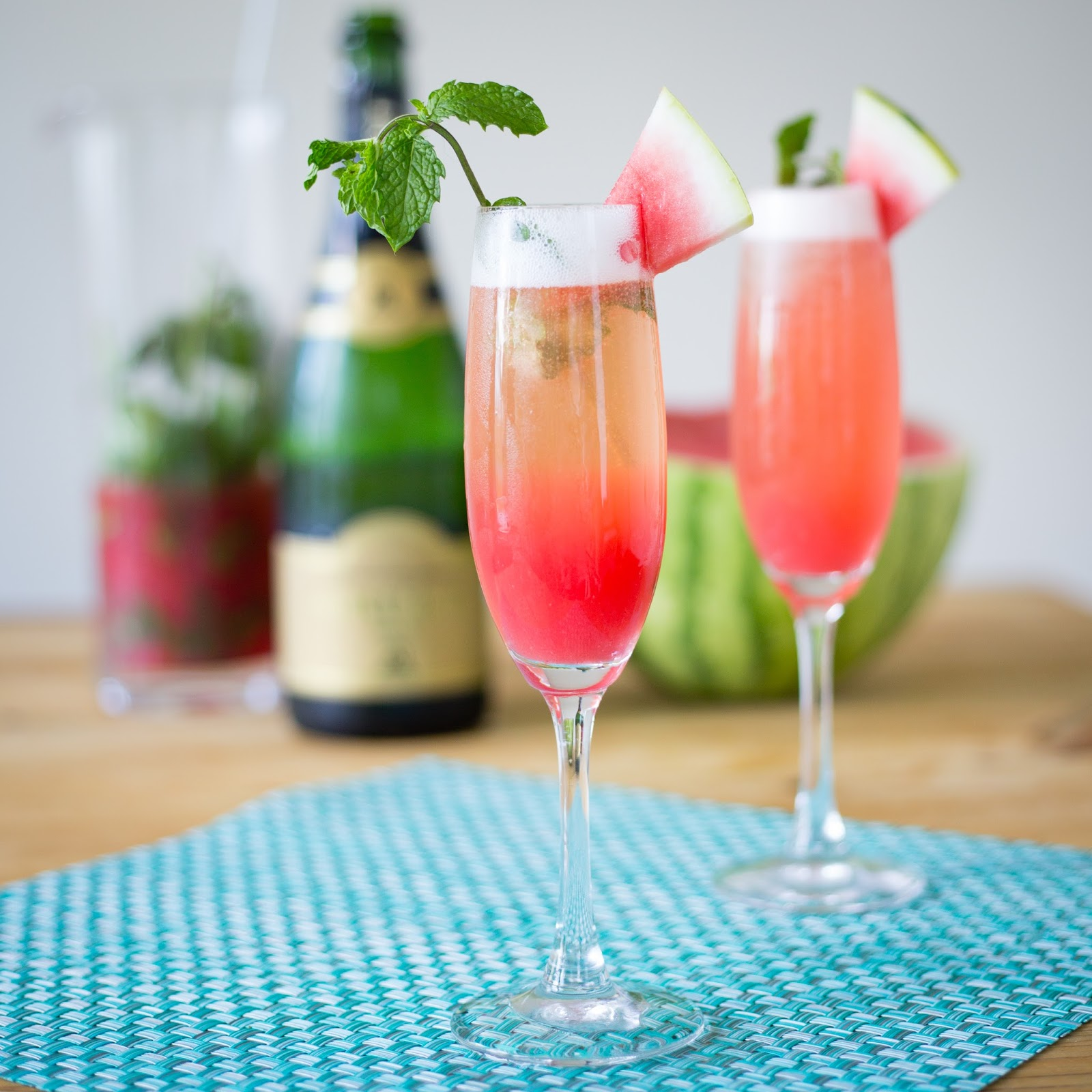 Mimosa Drink: W Is For: Watermelon Mint Mimosas