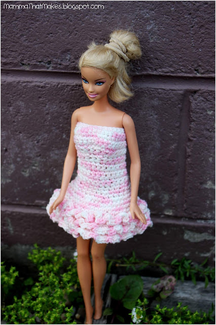 Barbie Dress - 3 Row Ruffle Dress