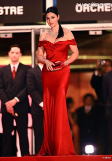 Stunning Monica Bellucci In Long Red Gown