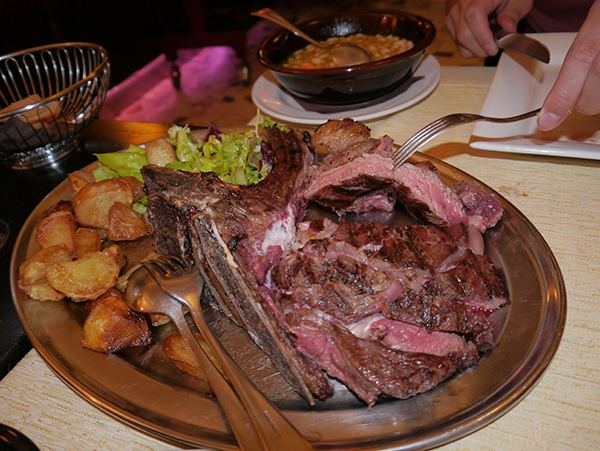 Florentine steak, also known as bistecca alla fiorentina