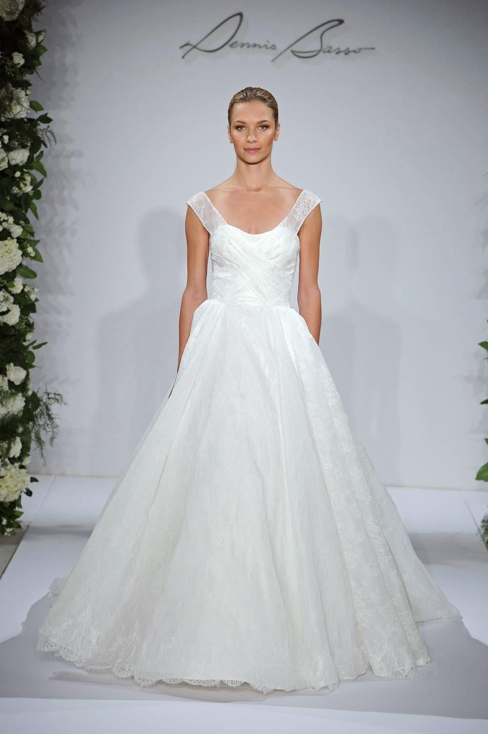 Dennis Basso Fall 2015 Wedding Dresses - Runway - World of ...