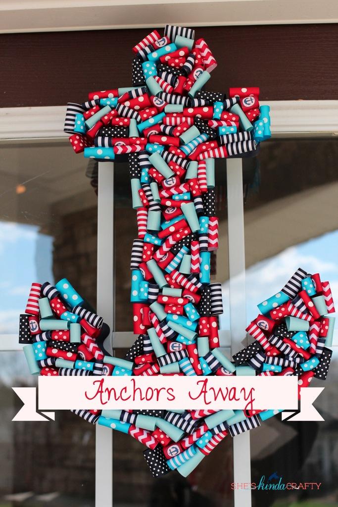 Anchors Away Nautical Ribbon Anchor Wreath Shes Kinda
